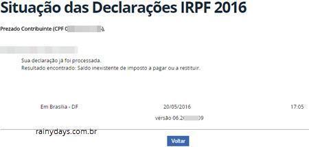 Como consultar restituição IRPF 2