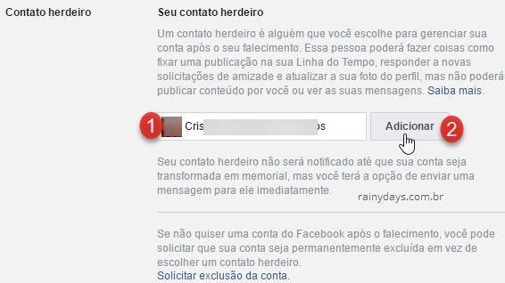 Como deixar conta do Facebook para familiar quando morrer 1