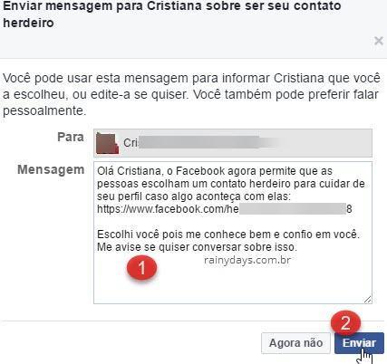 Como deixar conta do Facebook para familiar quando morrer 2