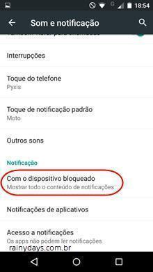 esconder as notificações da tela do Android 2