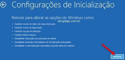 iniciar Windows 10 em modo de segurança 4