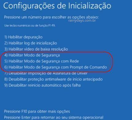 iniciar Windows 10 em modo de segurança 5