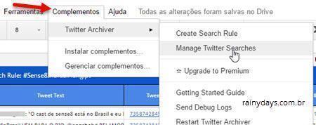 monitorar e salvar tweets em planilhas 13