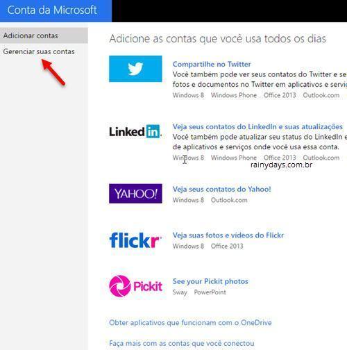 Reconectar conta do Google na Microsoft