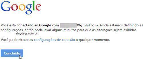 Reconectar conta do Google na Microsoft 5