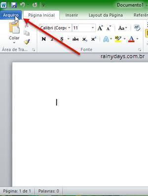 Recuperar arquivo não salvo no Microsoft Office