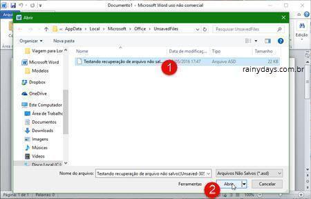 Recuperar arquivo não salvo no Microsoft Office 4