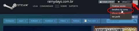 Ativar verificação em duas etapas no Steam