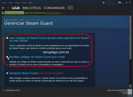 Ativar verificação em duas etapas no Steam 4