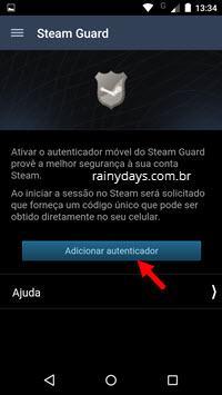 verificação em duas etapas no Steam com app 4