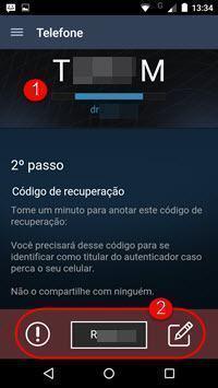 Código Steam Guard no celular para fazere login no Steam