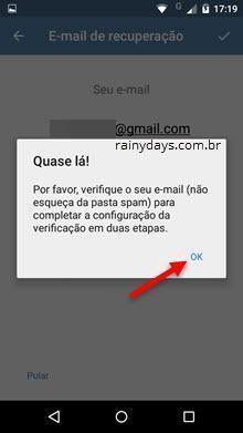 verificação em duas etapas no Telegram 7