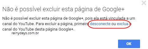 Como apagar página do Google Plus 4