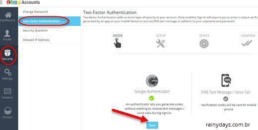 Ativar verificação em duas etapas no Zoho Mail 1