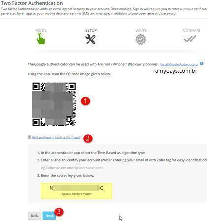 Ativar verificação em duas etapas no Zoho Mail 2