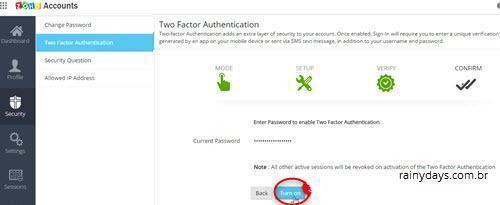 Ativar verificação em duas etapas no Zoho Mail 4