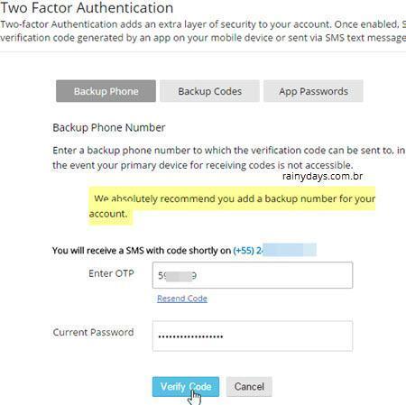 Ativar verificação em duas etapas no Zoho Mail 9