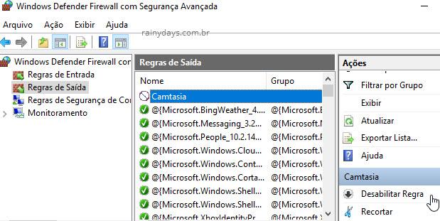 Bloquear qualquer programa no Firewall do Windows