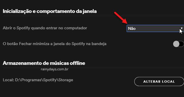 Remover Spotify da inicialização do Windows