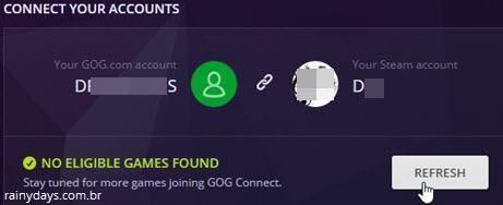 conectar conta GOG com Steam 6