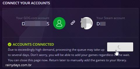 conectar conta GOG com Steam 7