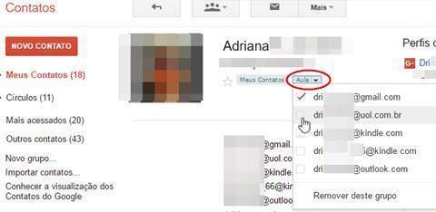 criar grupos de contatos no Gmail 3