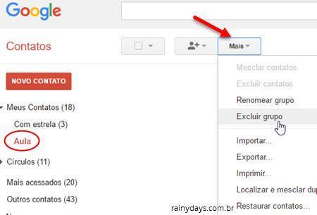 criar grupos de contatos no Gmail 4