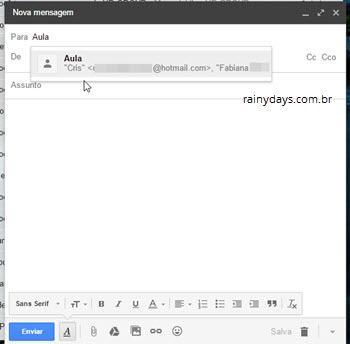 criar grupos de contatos no Gmail 5
