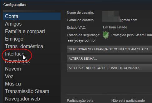 Remover Steam da inicialização