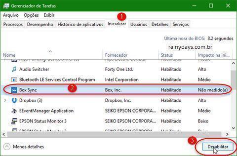 Remover Box da inicialização do Windows