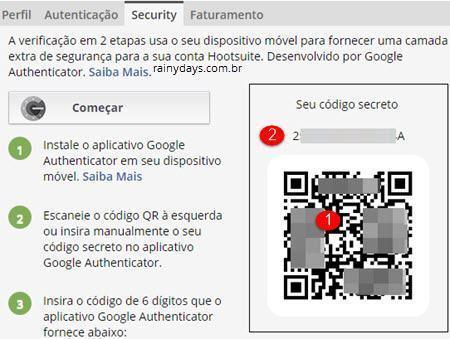 verificação em duas etapas no Hootsuite 4