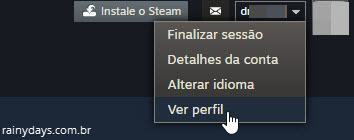 verificar perfil publico no Steam