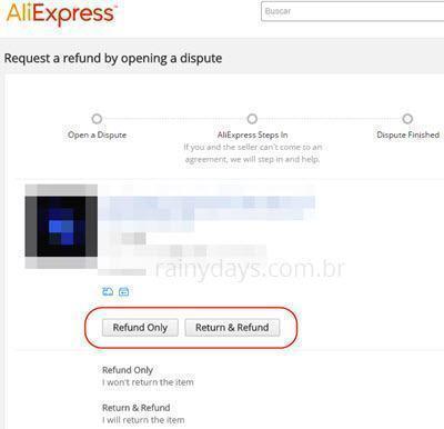 Abrir disputa na AliExpress para produto não entregue 3
