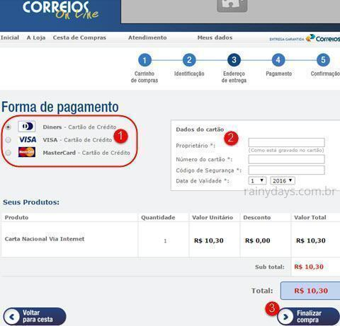 carta via Internet