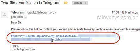 desativar Telegram no caso de celular roubado 6