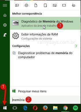 Diagnóstico de Memória do Windows