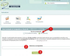 Gerar autorizição para empréstimo consignado SIGEPE