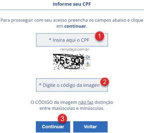 informar CPF para receber senha SIGEPE SIGAC