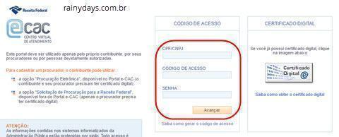 login Portal eCAC