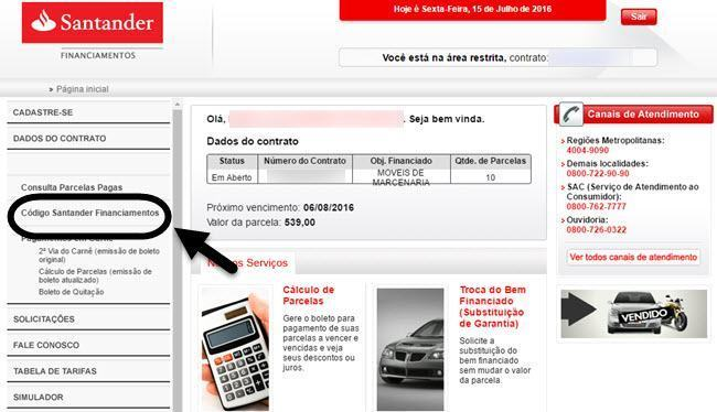 Segunda Via de Boleto Santander Financiamentos