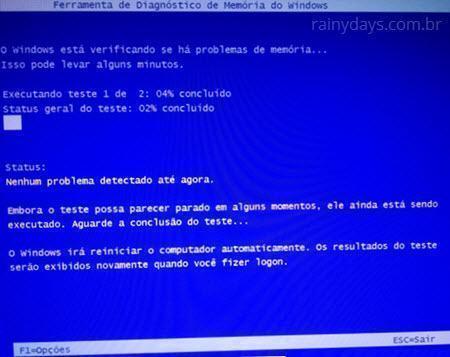 testar memória RAM do computador