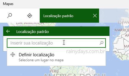 adicionar sua localização padrão no Windows 10 (2)