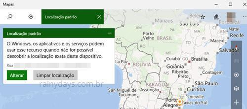 adicionar sua localização padrão no Windows 10 (3)