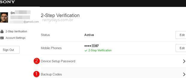 Como ativar verificação em duas etapas na PSN 11