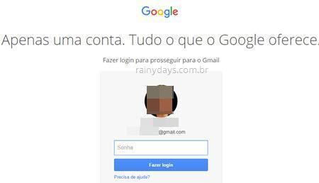 Como deslogar do Gmail 2