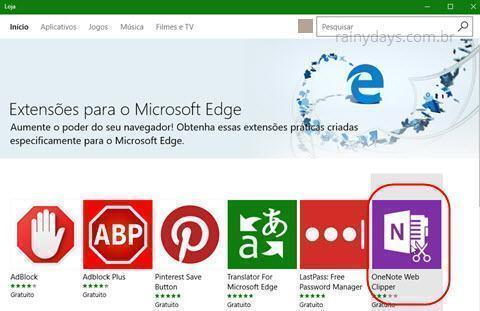 Como instalar extensões no Edge