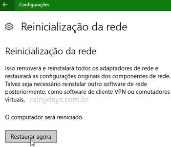 Como restaurar rede no Windows 10 (2)