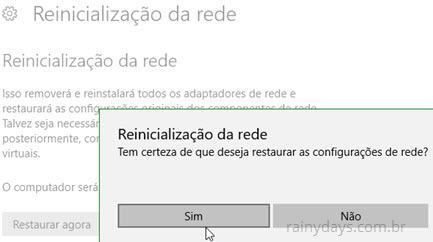 Como restaurar rede no Windows 10 (3)