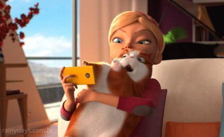 Curta de animação Selfie Cat