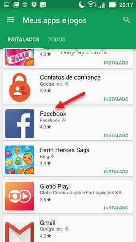 Desativar atualização automática de aplicativos específicos